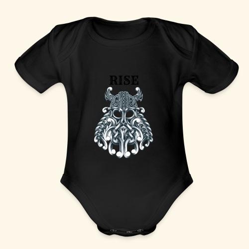 RISE CELTIC WARRIOR - Organic Short Sleeve Baby Bodysuit