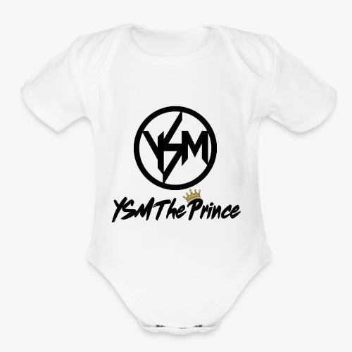 The Prince - Organic Short Sleeve Baby Bodysuit