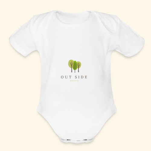 Out Side Nature - Organic Short Sleeve Baby Bodysuit