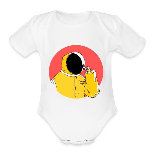 Pizza Folk - Organic Short Sleeve Baby Bodysuit