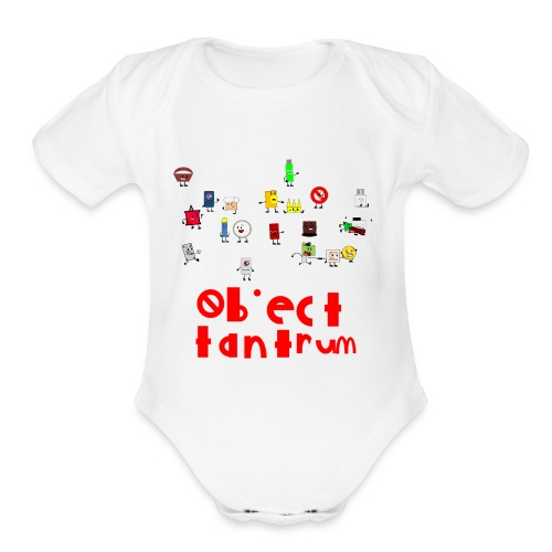 object tantrum cast - Organic Short Sleeve Baby Bodysuit