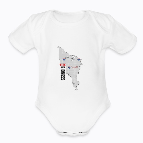 Toe Bidness - Organic Short Sleeve Baby Bodysuit