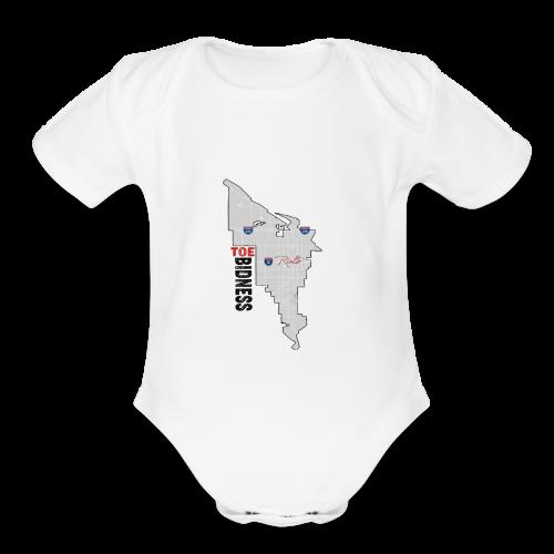 Toe Bidness - Organic Short Sleeve Baby Bodysuit