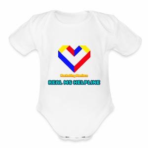 Ms Logo - Short Sleeve Baby Bodysuit