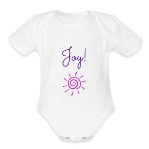 Joy! - Short Sleeve Baby Bodysuit