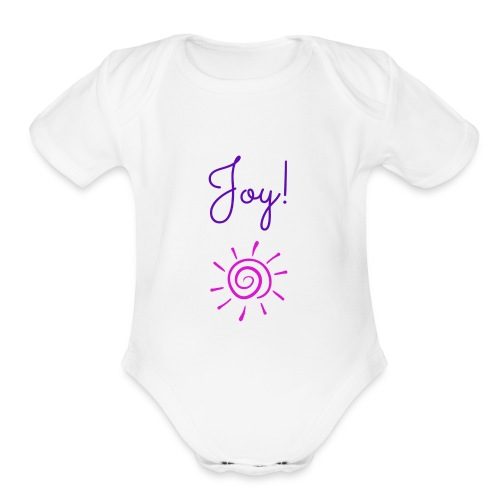Joy! - Organic Short Sleeve Baby Bodysuit