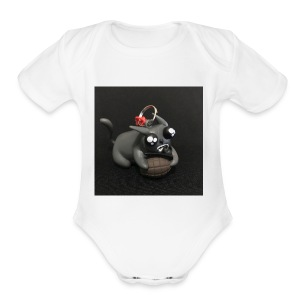 exploding kittens cat - Short Sleeve Baby Bodysuit