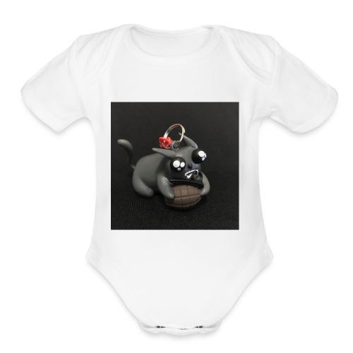 exploding kittens cat - Organic Short Sleeve Baby Bodysuit