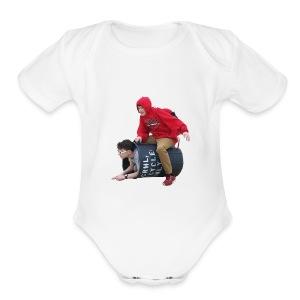 Downy Spacemen - Short Sleeve Baby Bodysuit