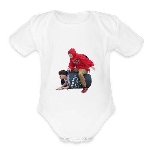Downy Spacemen - Organic Short Sleeve Baby Bodysuit