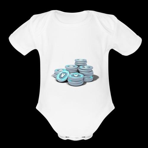vbucks - Organic Short Sleeve Baby Bodysuit