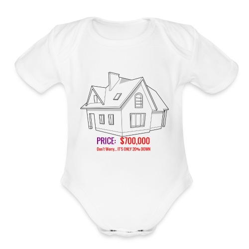 Fannie & Freddie Joke - Organic Short Sleeve Baby Bodysuit