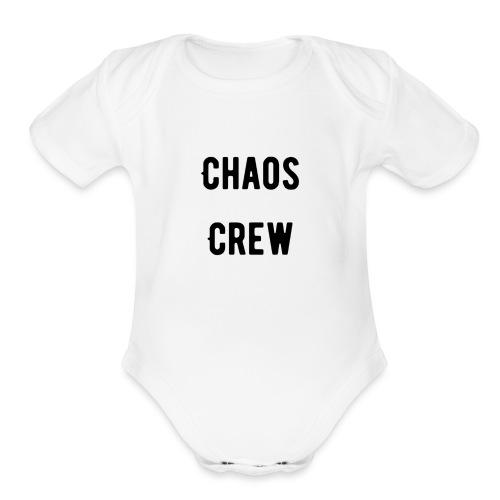 Chaos Crew T Shirt - Organic Short Sleeve Baby Bodysuit