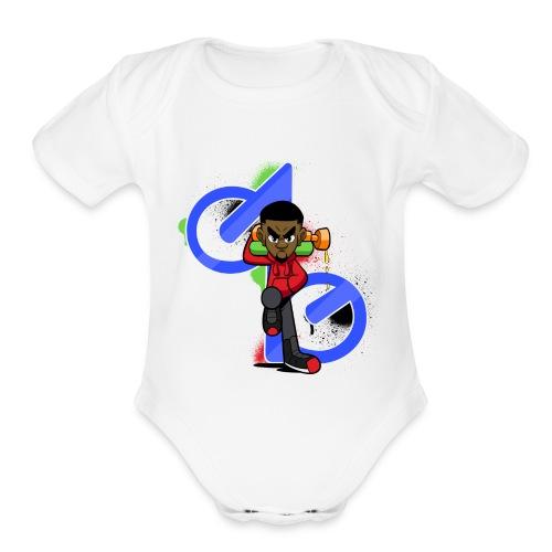 OBE1plays - Organic Short Sleeve Baby Bodysuit