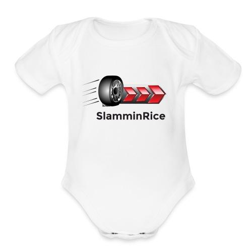 SlamminRice Tire shirts - Organic Short Sleeve Baby Bodysuit