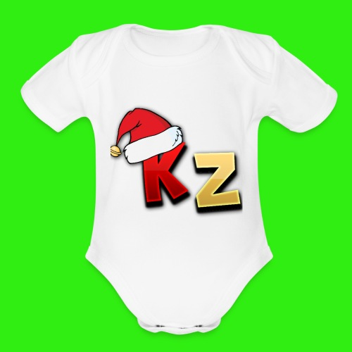 KaptainZay Christmas - Organic Short Sleeve Baby Bodysuit