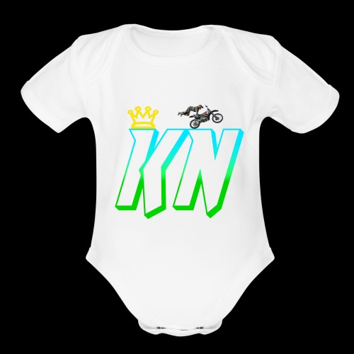 2018 keag and Nate Logo - Organic Short Sleeve Baby Bodysuit