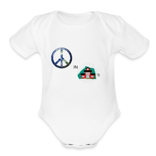 Peace In Schools - Organic Short Sleeve Baby Bodysuit