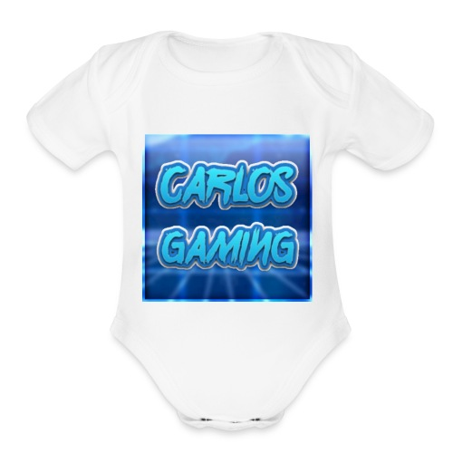 Carlos Gaming merchandise - Organic Short Sleeve Baby Bodysuit