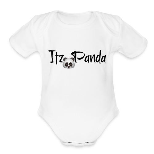 Its panda two - Organic Short Sleeve Baby Bodysuit