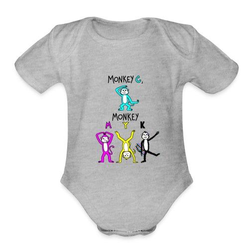 monkey see myk - Organic Short Sleeve Baby Bodysuit