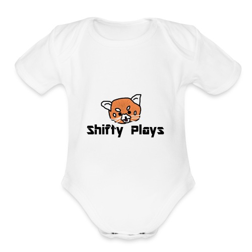 Shifty: Red Panda Tee Male - Organic Short Sleeve Baby Bodysuit
