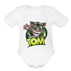 Talking_TOM_wave_preview_lowRes - Short Sleeve Baby Bodysuit