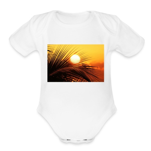 beautiful jamaica - Organic Short Sleeve Baby Bodysuit