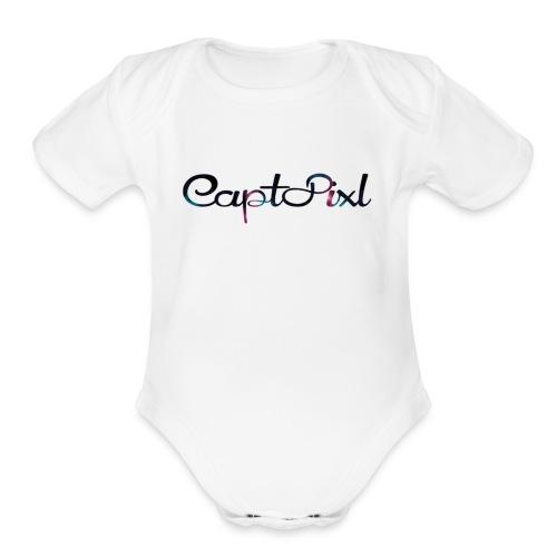 My YouTube Watermark - Organic Short Sleeve Baby Bodysuit