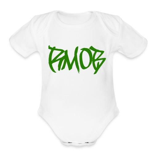 RM0B text - Organic Short Sleeve Baby Bodysuit