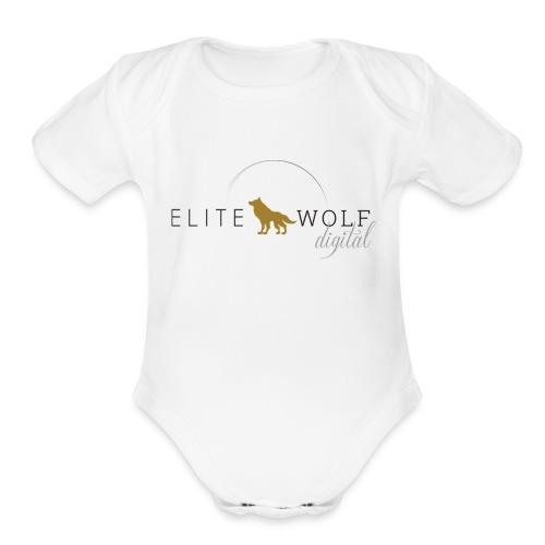 higher res logo - Organic Short Sleeve Baby Bodysuit