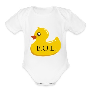 Official B.O.L. Ducky Duck Logo - Short Sleeve Baby Bodysuit