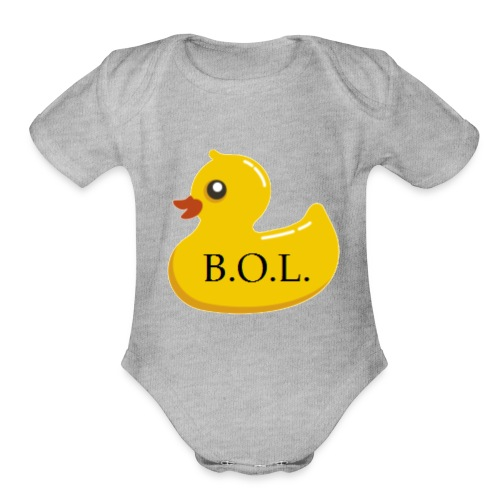 Official B.O.L. Ducky Duck Logo - Organic Short Sleeve Baby Bodysuit