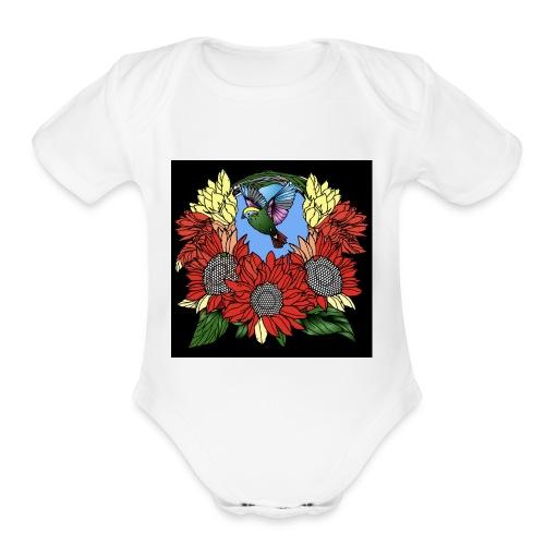 Florals - Organic Short Sleeve Baby Bodysuit