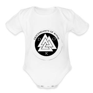 D.O.R WHITE - Short Sleeve Baby Bodysuit