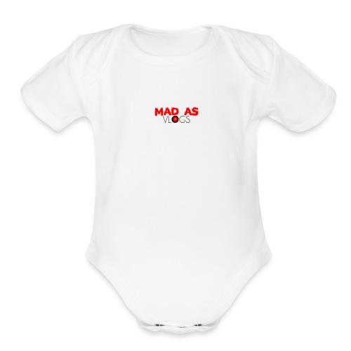 Mad As Vlogs - Organic Short Sleeve Baby Bodysuit