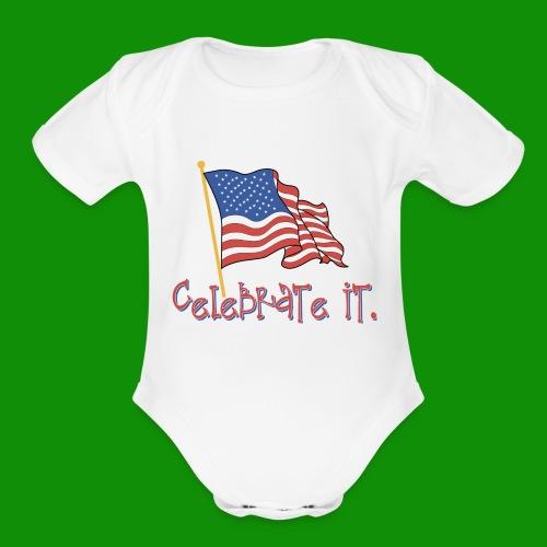 USA Celebrate It - Organic Short Sleeve Baby Bodysuit