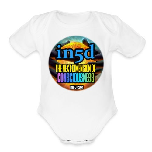 In5D Main Logo - Organic Short Sleeve Baby Bodysuit