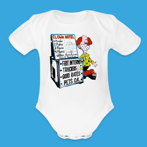 Clown Sleep - Organic Short Sleeve Baby Bodysuit