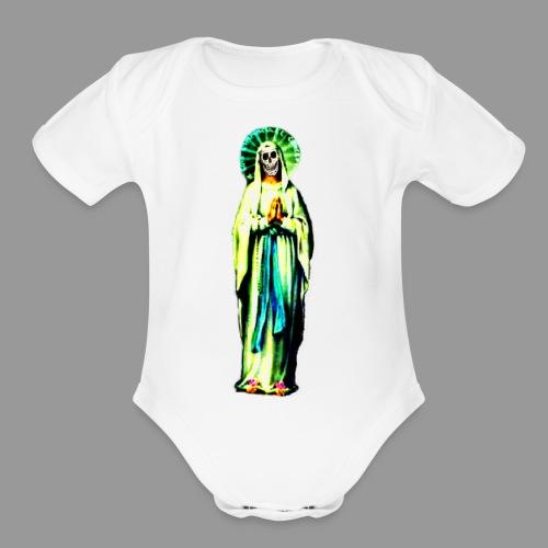 Cult Of Santa Muerte - Organic Short Sleeve Baby Bodysuit