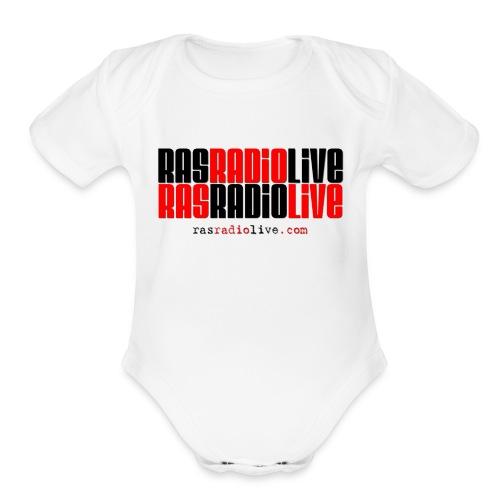 rasradiolive png - Organic Short Sleeve Baby Bodysuit