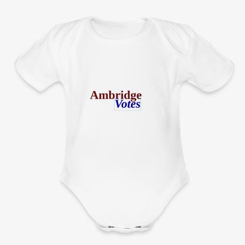 Ambridge Votes - Organic Short Sleeve Baby Bodysuit