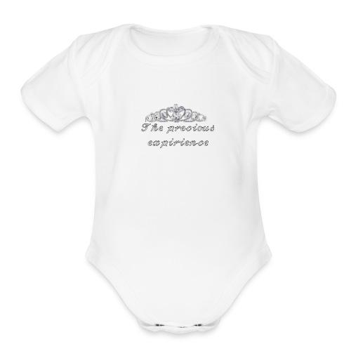 𝒯𝒽𝑒 𝓅𝓇𝑒𝒸𝒾𝑜𝓊𝓈 𝑒𝓍𝓅𝒾𝓇𝒾𝑒𝓃𝒸𝑒 - Organic Short Sleeve Baby Bodysuit