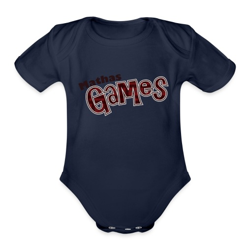 TShirt Textonly png - Organic Short Sleeve Baby Bodysuit