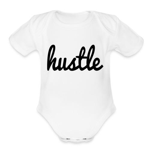 hustle vector - Organic Short Sleeve Baby Bodysuit