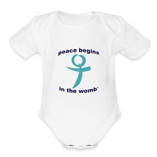 PeaceSquare - Organic Short Sleeve Baby Bodysuit