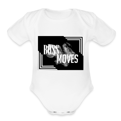 bossmoveslogo - Organic Short Sleeve Baby Bodysuit