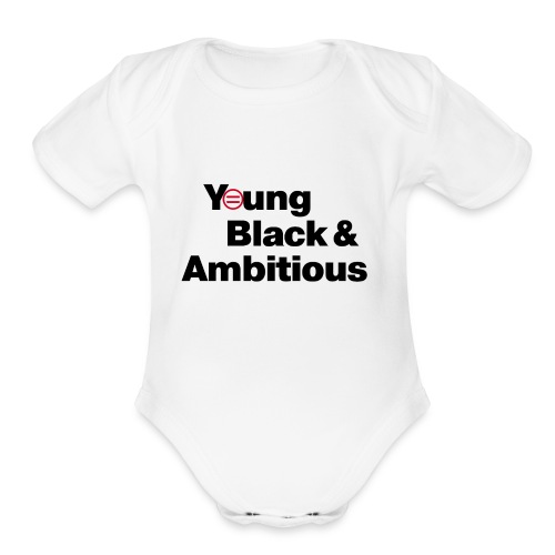 YBA white and gray shirt - Organic Short Sleeve Baby Bodysuit