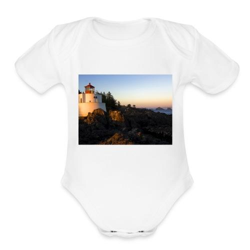Lighthouse - Organic Short Sleeve Baby Bodysuit
