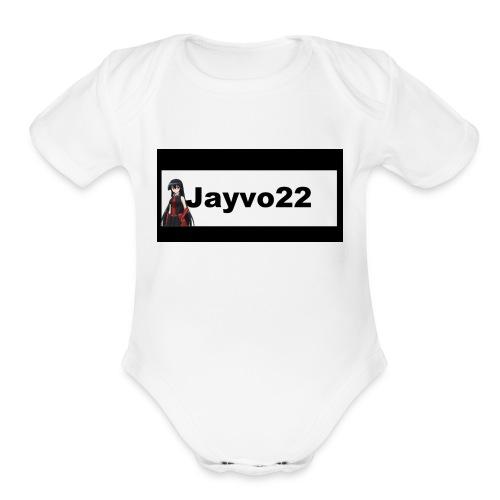 Jayvo22 logo - Organic Short Sleeve Baby Bodysuit